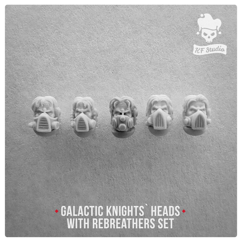 Galactic Knights Heads with rebreathers by KFStudio