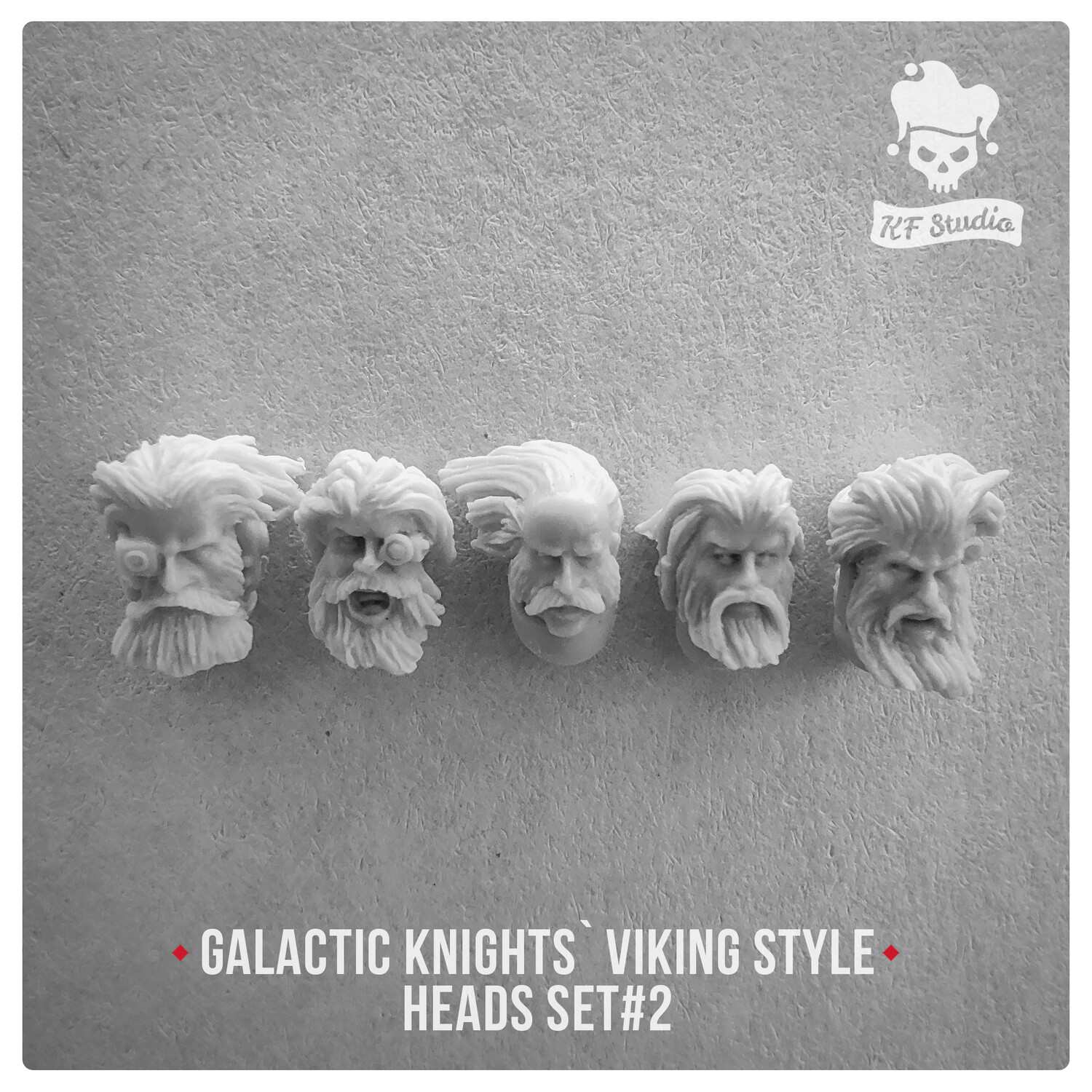 Galactic Knights Viking Style Heads Set#2 by KFStudio