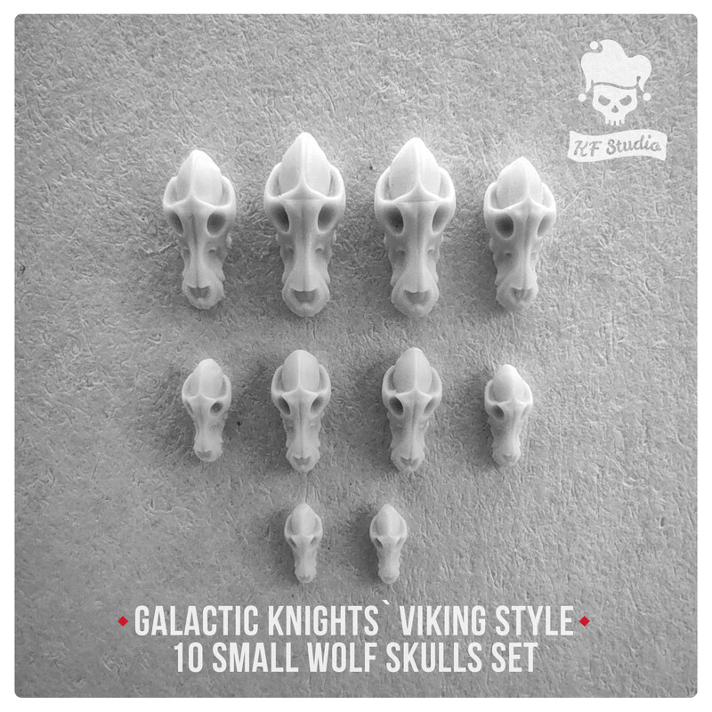 Galactic Knights Viking Style small wolf skulls by KFStudio