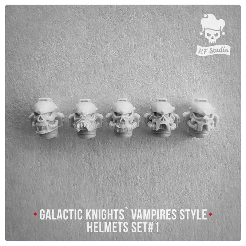 Galactic Knights Vampire Style Helmets Set#1 by KFStudio