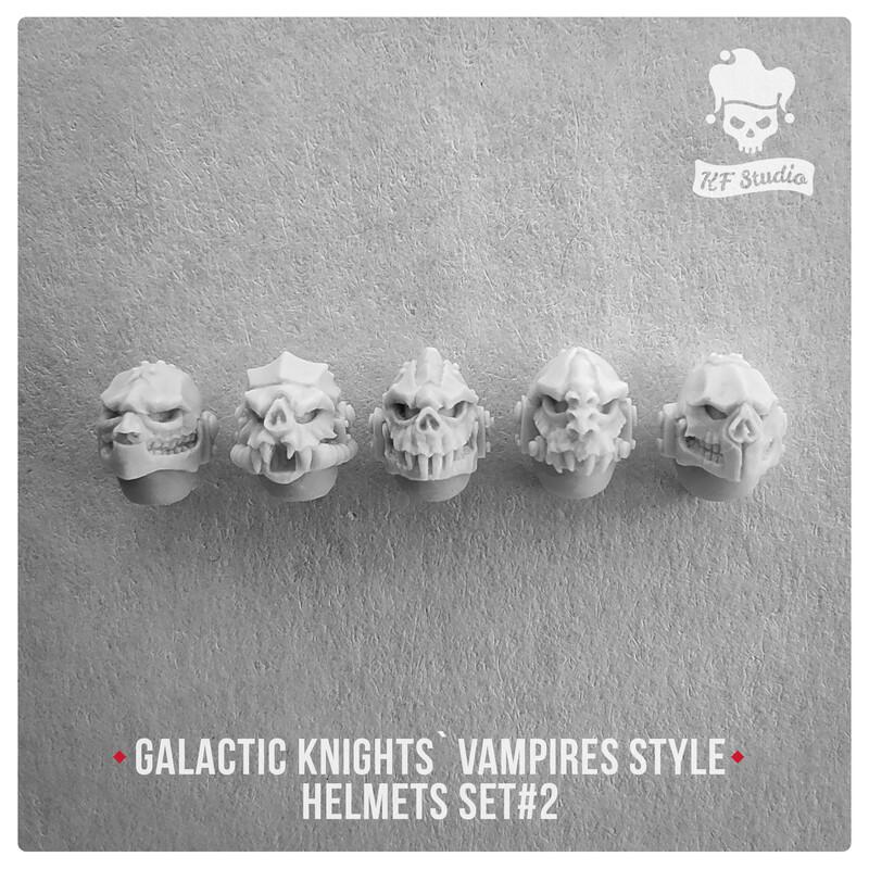 Galactic Knights Vampire Style Helmets Set#2 by KFStudio