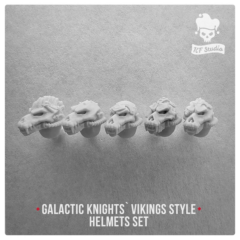 Galactic Knights Viking Style Skull Helmets by KFStudio