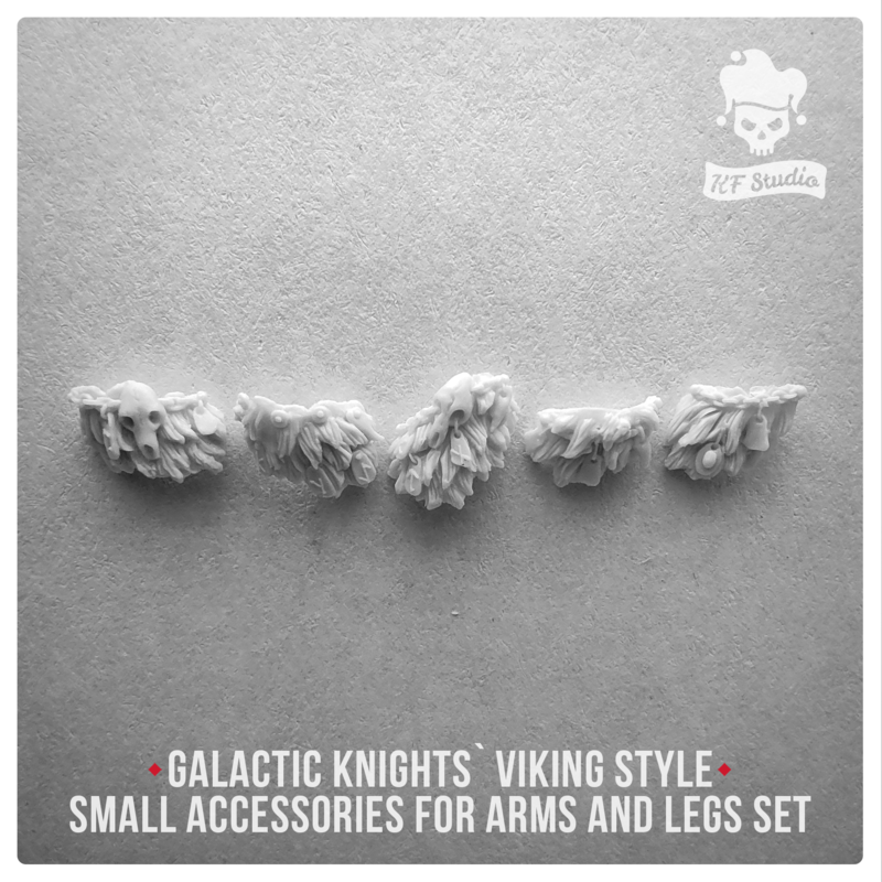 Galactic Knights Viking Style small accessories for arms and legs by KFStudio