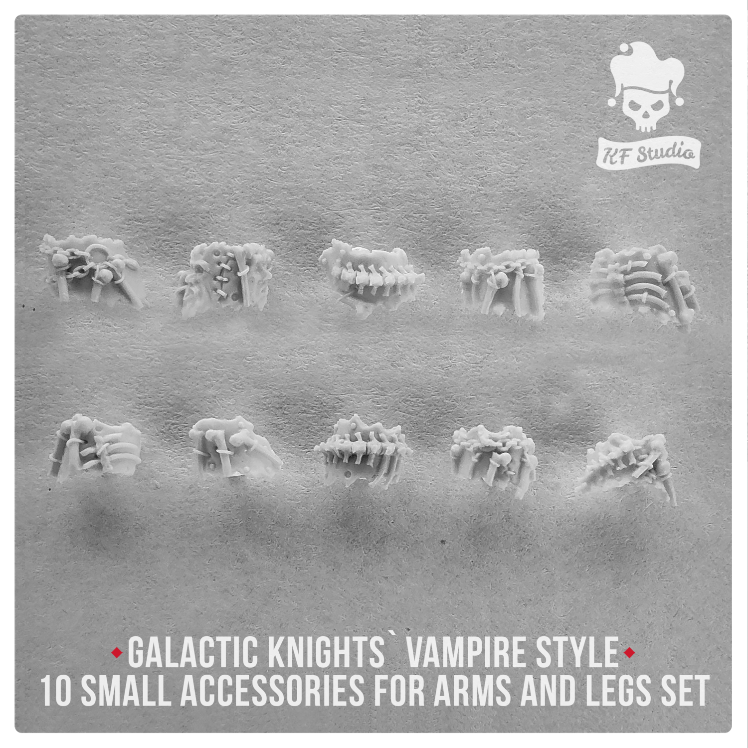 Galactic Knights Vampire Style small accessories for arms and legs by KFStudio