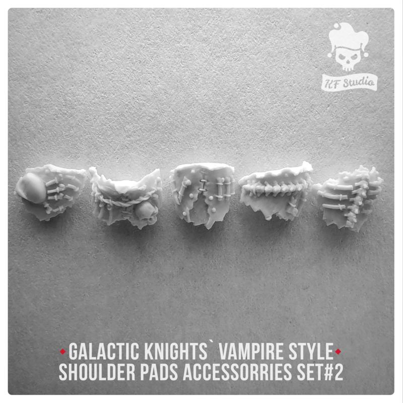 Galactic Knights Vampire Style  Shoulder Pad accessorries Set#2 by KFStudio