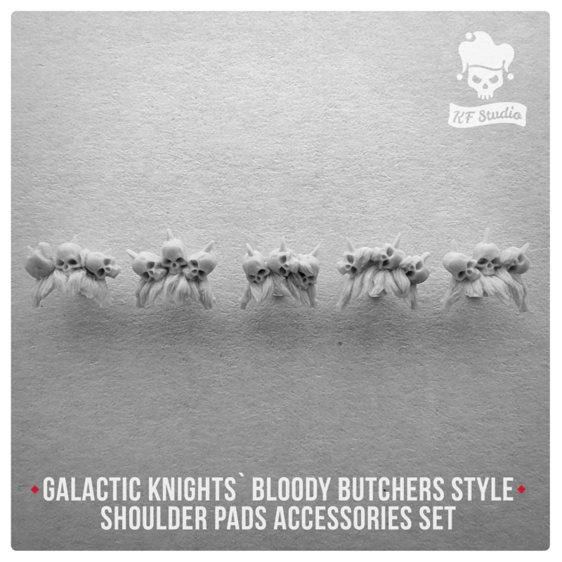 Galactic Knights Bloody Butcher Style Shoulder Pad accessories by KFStudio