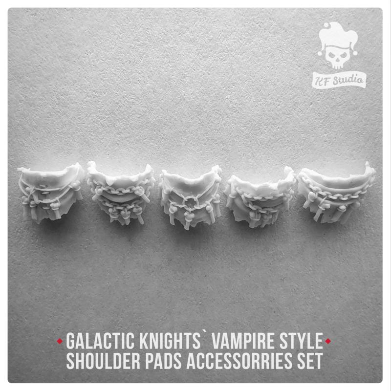 Galactic Knights Vampire Style  Shoulder Pad accessorries by KFStudio