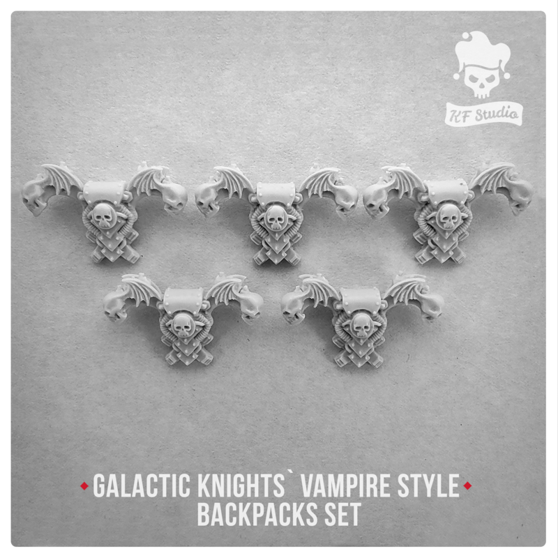 Galactic Knights Vampire Style Backpacks Set by KFStudio