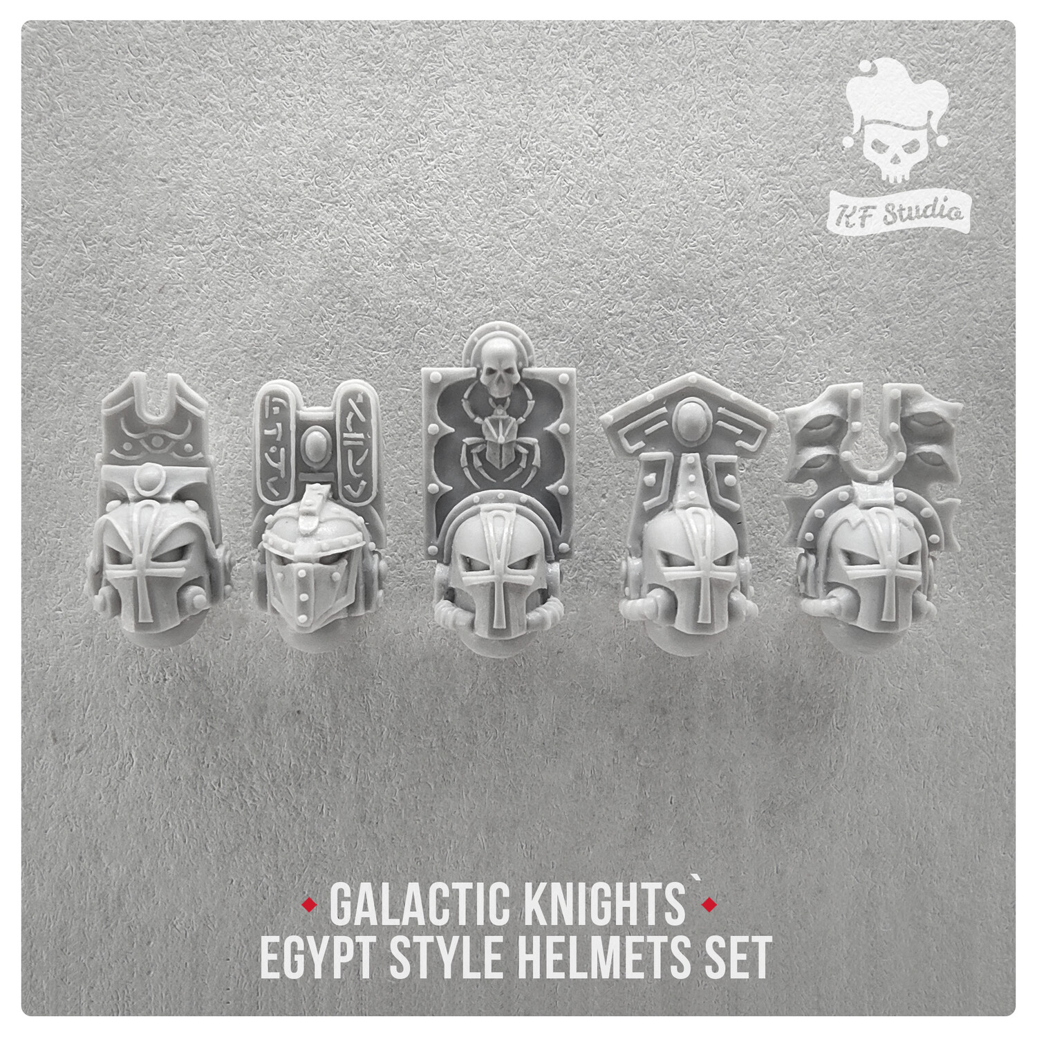 Galactic Knights Egypt Style Helmets by KFStudio