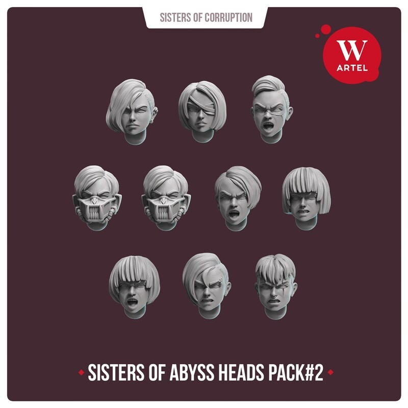 Sisters of Abyss Heads pack#2