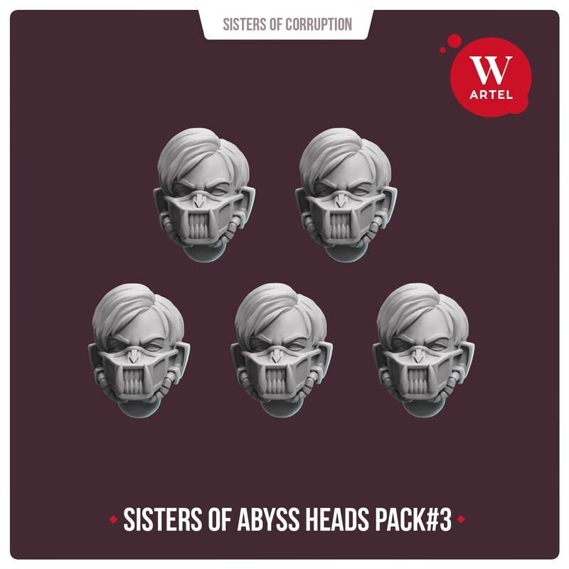 Sisters of Abyss Heads pack#3