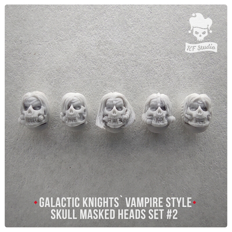 Vampire Style Galactic Knights skull masked heads set#2 by KFStudio