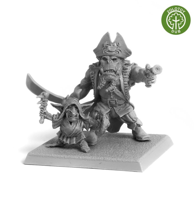 Captain K`Tran and S`Teak`y the Goblin - by Zolotoy Dub-