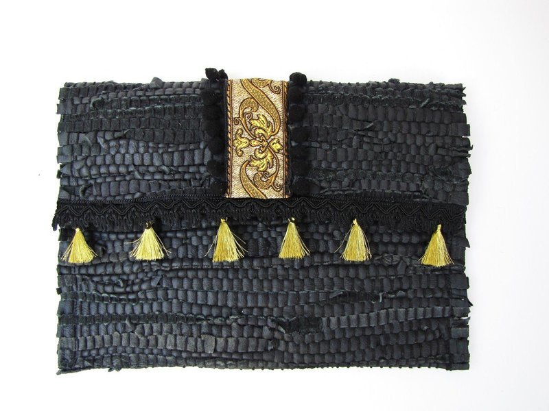 Funky leather Clutch