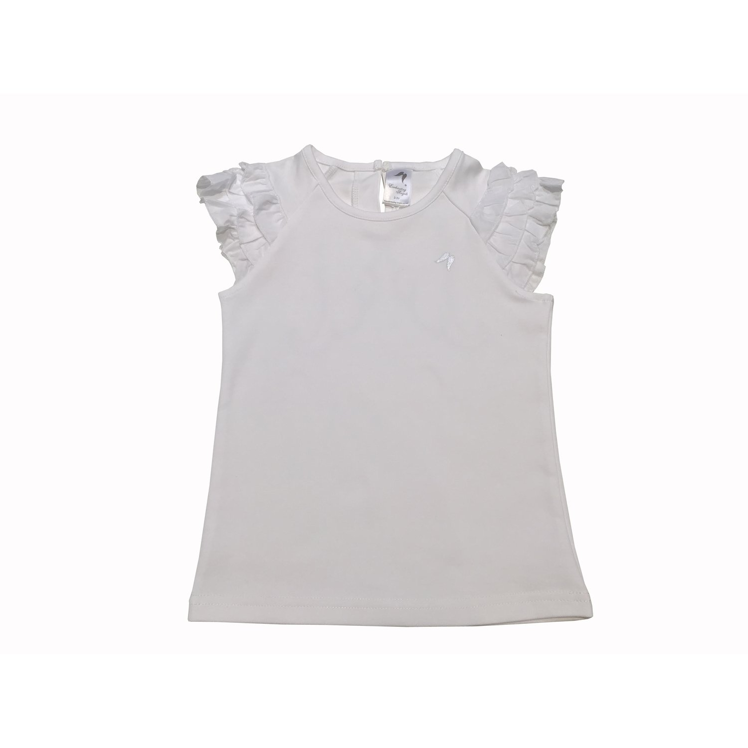 White Feather Frill Angel Top