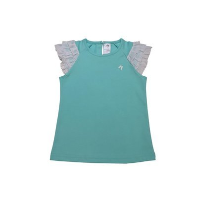 Teal Feather Frill Angel Top