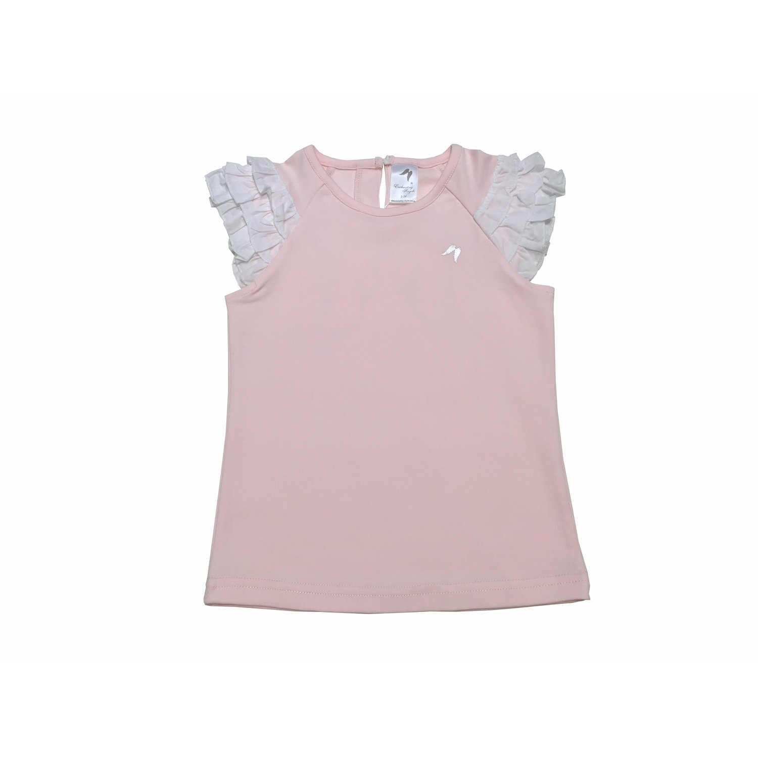 Pink Feather Frill Angel Top