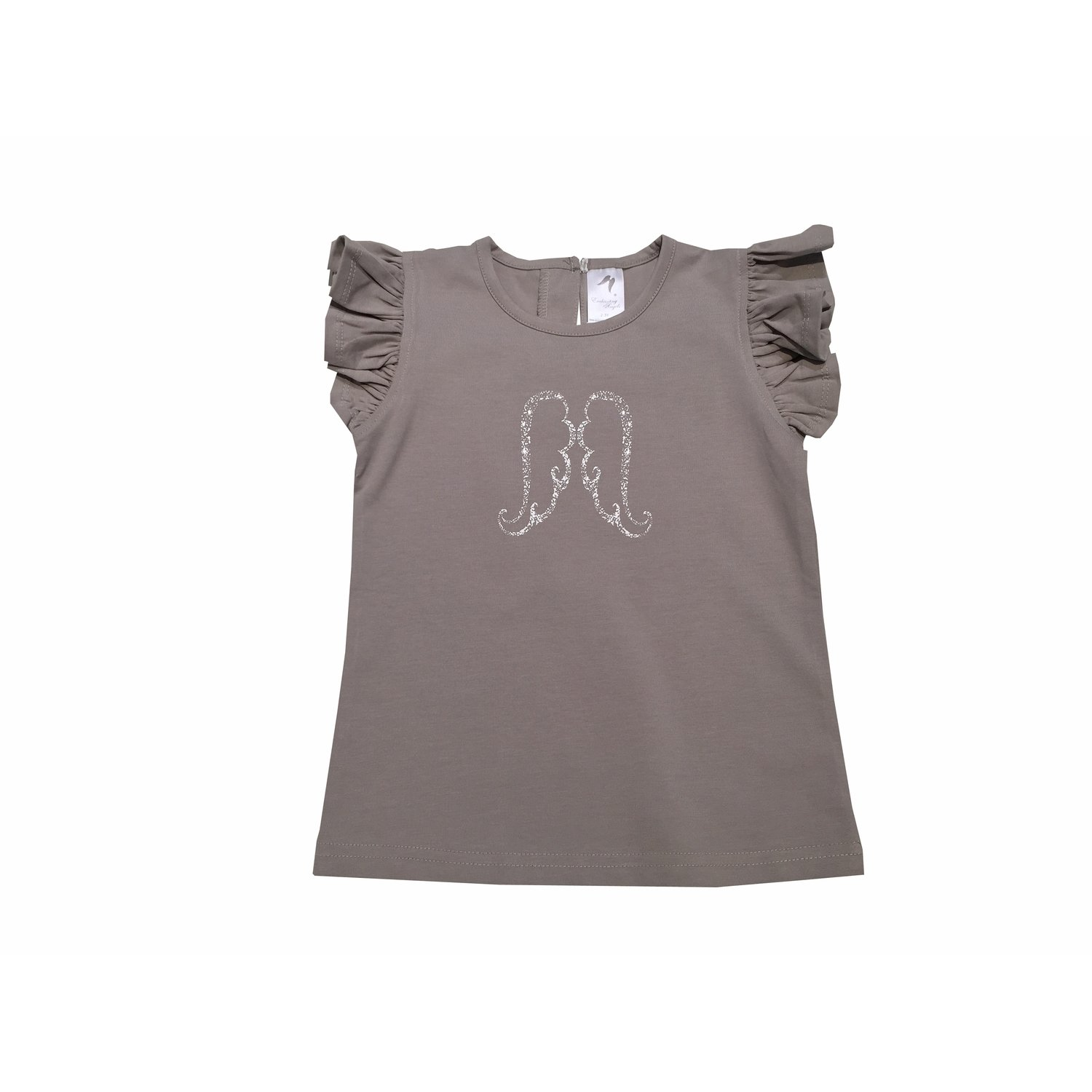 Girls Shirt - Ash Grey Angel Tee