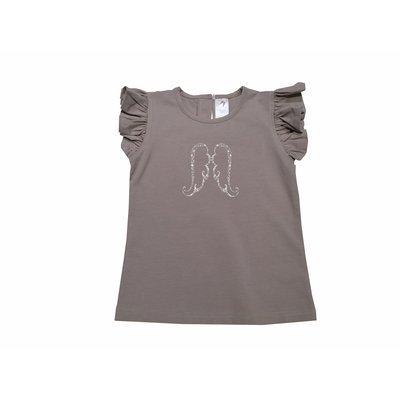 Girls Shirt - Ash Grey Angel Tee