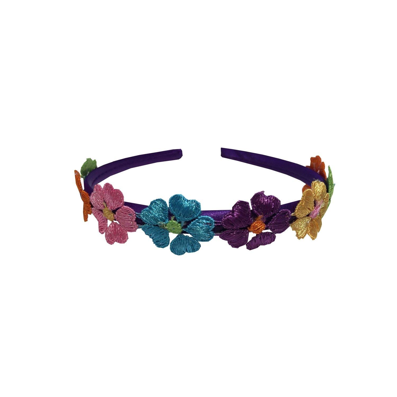 Headband Purple Flowered