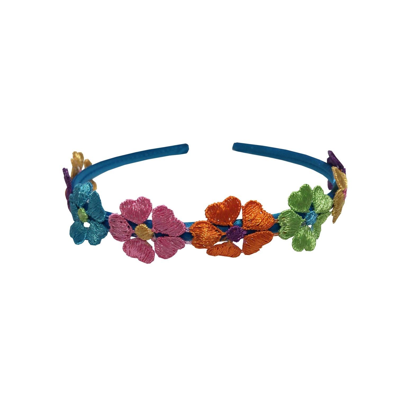 Headband Sky Blue Flowered