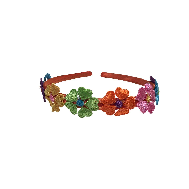 Headband Orange Flowered