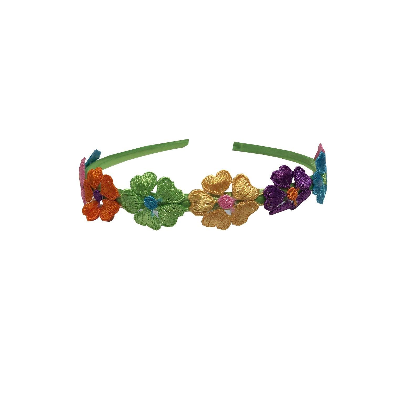 Headband, Apple Green Flowered