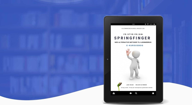 Få styr på din springfinger med alternative metoder -E-kursusbog
