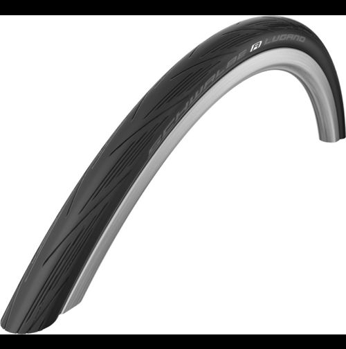 Schwalbe Lugano Road Bike Cycle Tyres 700 x 23c Black With K-Guard
