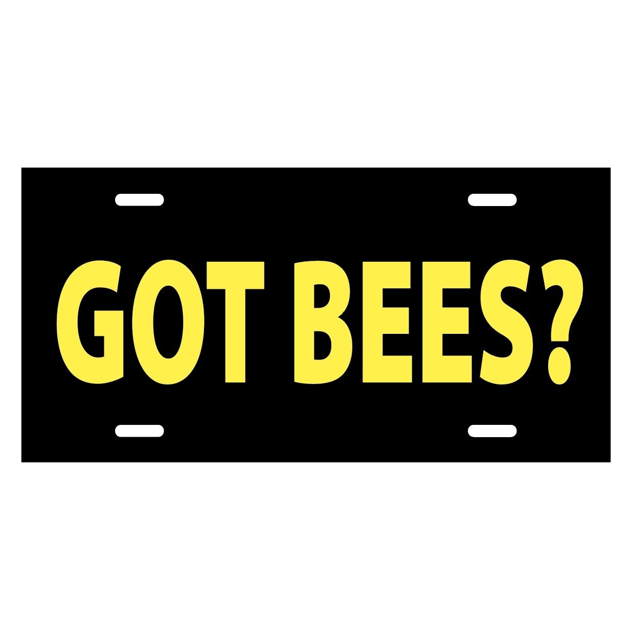 GOT BEES - LICENSE PLATE