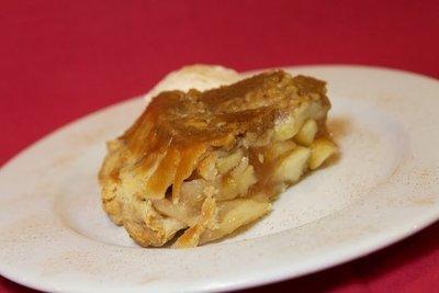 Whole Upside Down Apple Walnut Pie