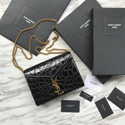 CASSANDRA MONOGRAM BAG, Embossed Leather