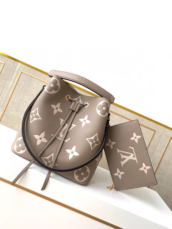 NÉONOÉ MM, Bicolour Monogram Empreinte Leather