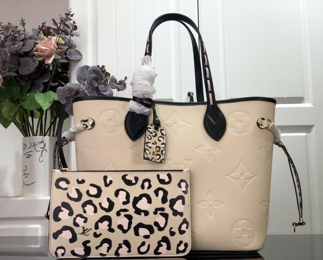 NEVERFULL MM TOTE BAG, Cream, Monogram Empreinte Leather