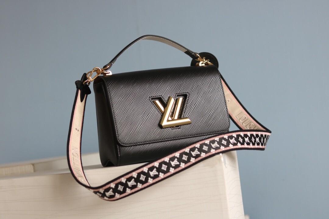 TWIST MM BAG, Black, Epi leather