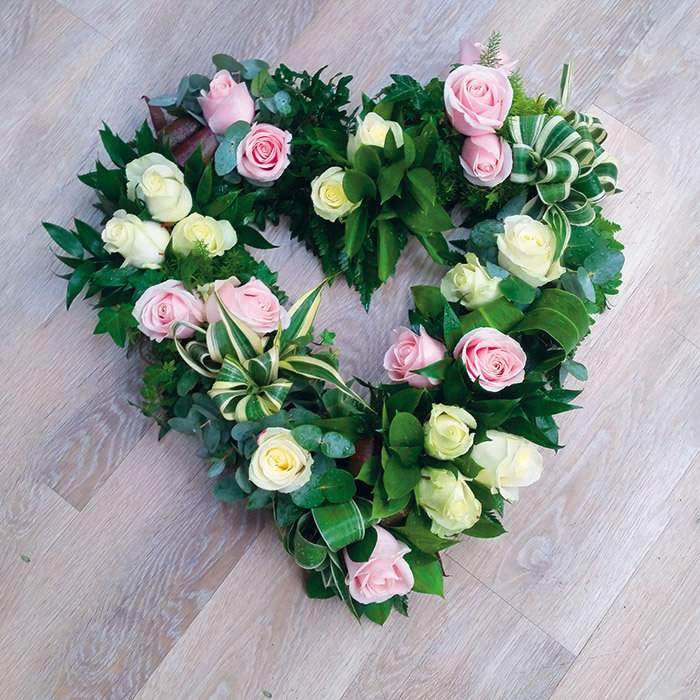 Grouped All Rose Heart