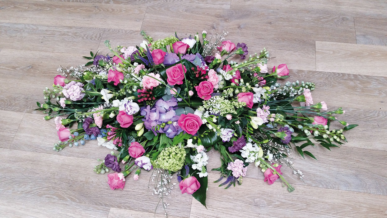 Country Pink Rose Double Ended