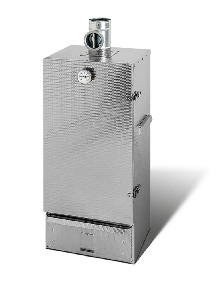SMOKI Räucherofen - Doppelwandig isoliert - Rohranschluss - 120x39x33cm
