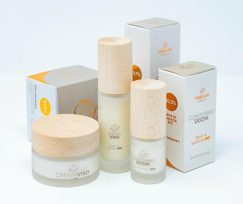 Kit trattamento viso completo - Crema Viso 81,5%, Siero 83,7% e Contorno occhi 80,1%