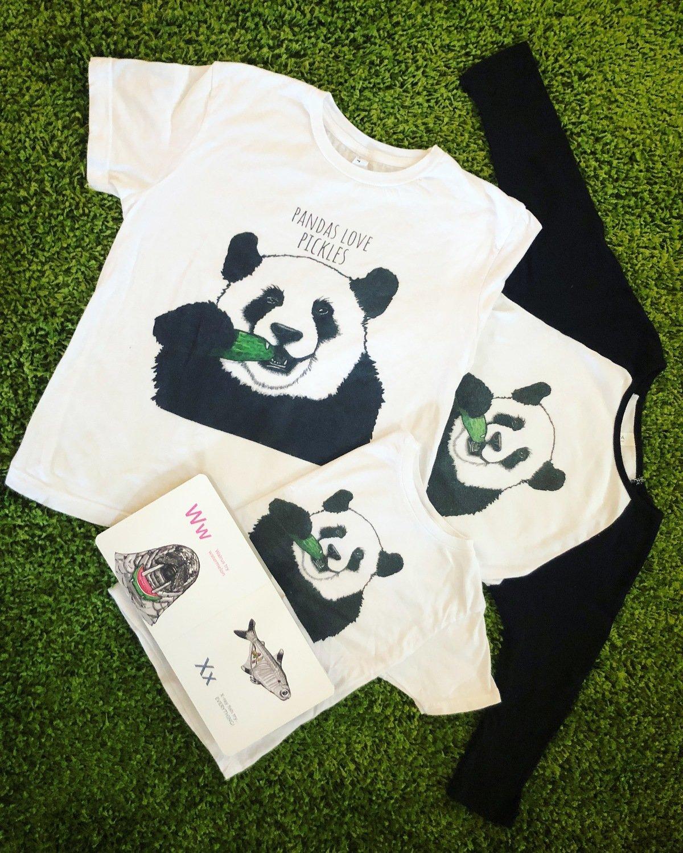 Pandas Love Pickles Baseball T-Shirt