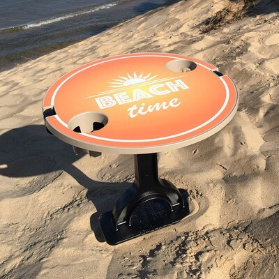 FootStake Beach Time Custom Graphic Outdoor Table