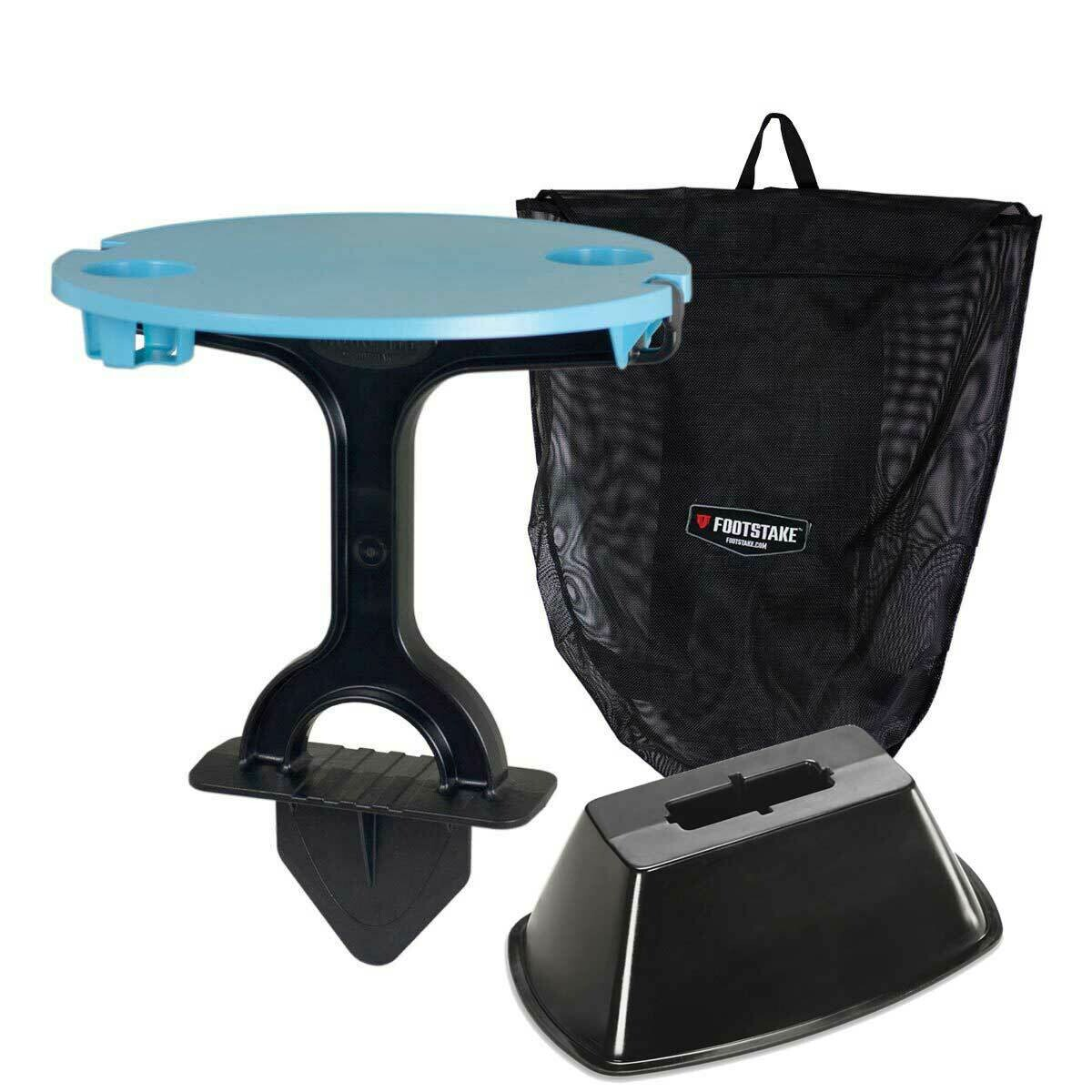 FootStake Blue Outdoor Table & Base Combo