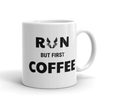 *Run but first coffee Mug