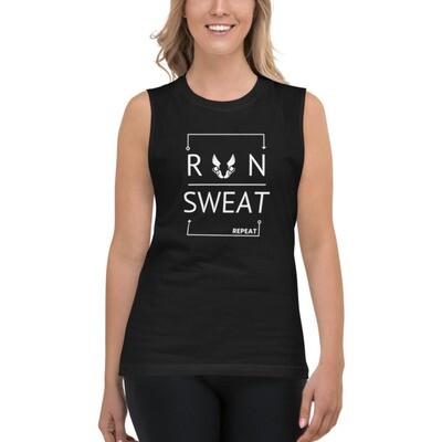 *Run Sweat Repeat Muscle Shirt