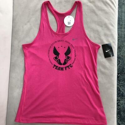 Ladies Pink Nike tank-Large only