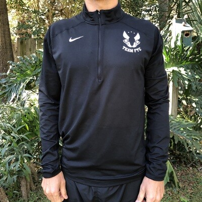 Nike Men's ½ Zip Running Pullover-Black