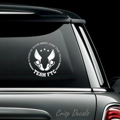 """Team FTC Decal- White 6""""x6"""""""