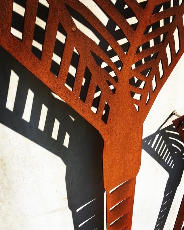 Corten Nikau Palm Wall Art