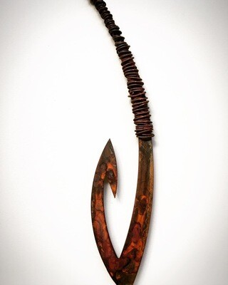 Rusty Matika - Spinning Corten Fish hook