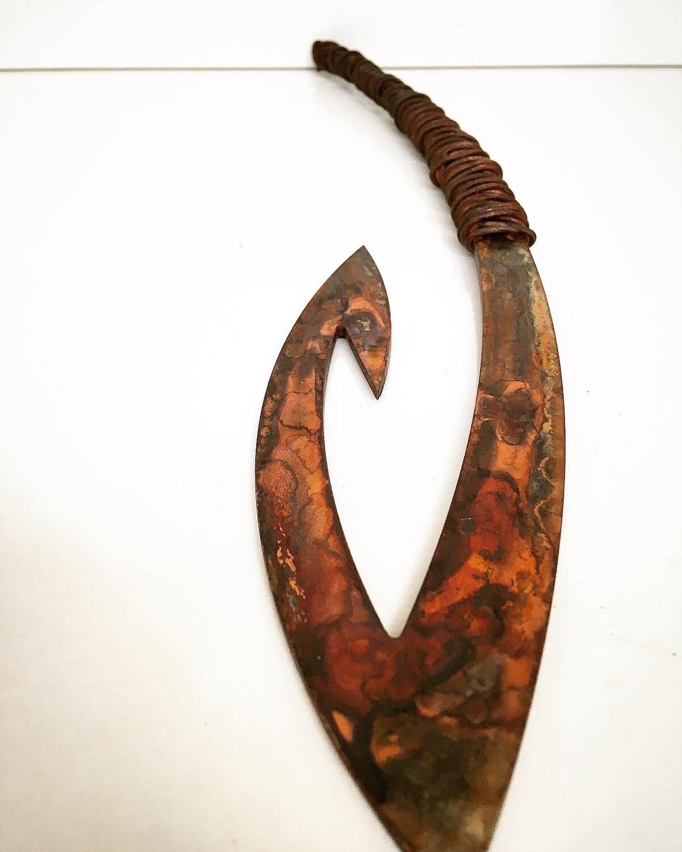 Rusty Matika - Corten Fish hook